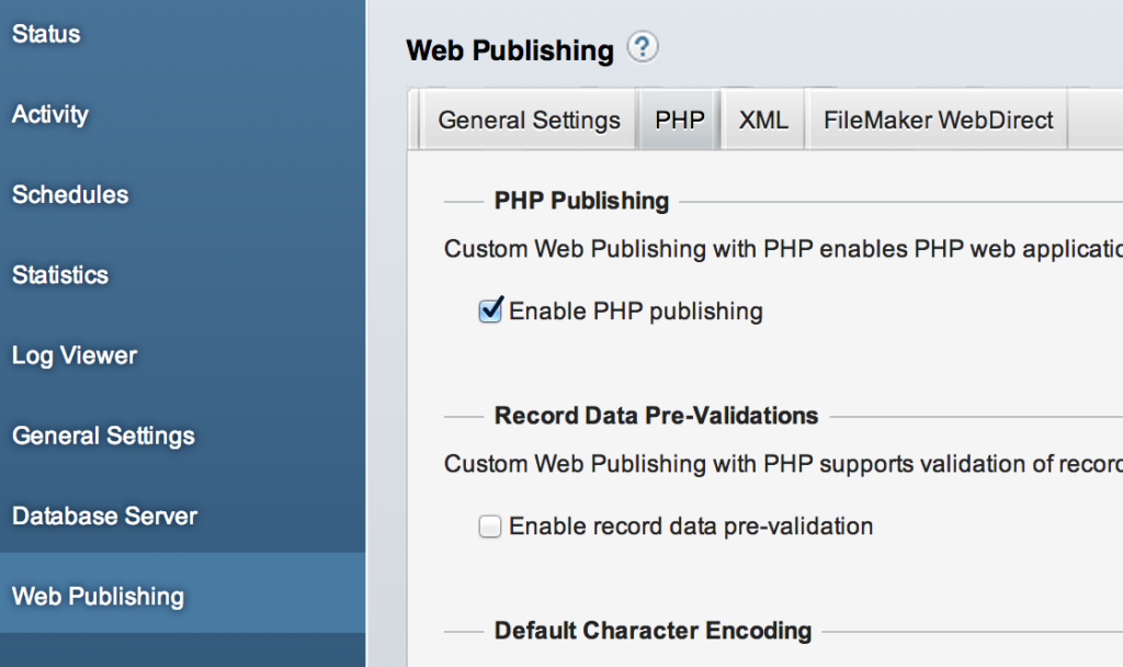 PHP Publishing Enabled