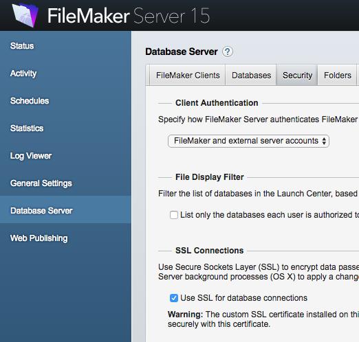 Let's Encrypt SSL Certificates for FileMaker Server for Mac