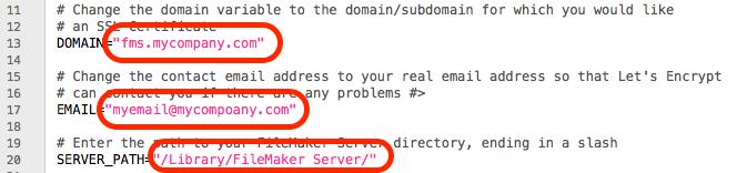 Let's Encrypt SSL Certificates for FileMaker Server for Mac - Blue